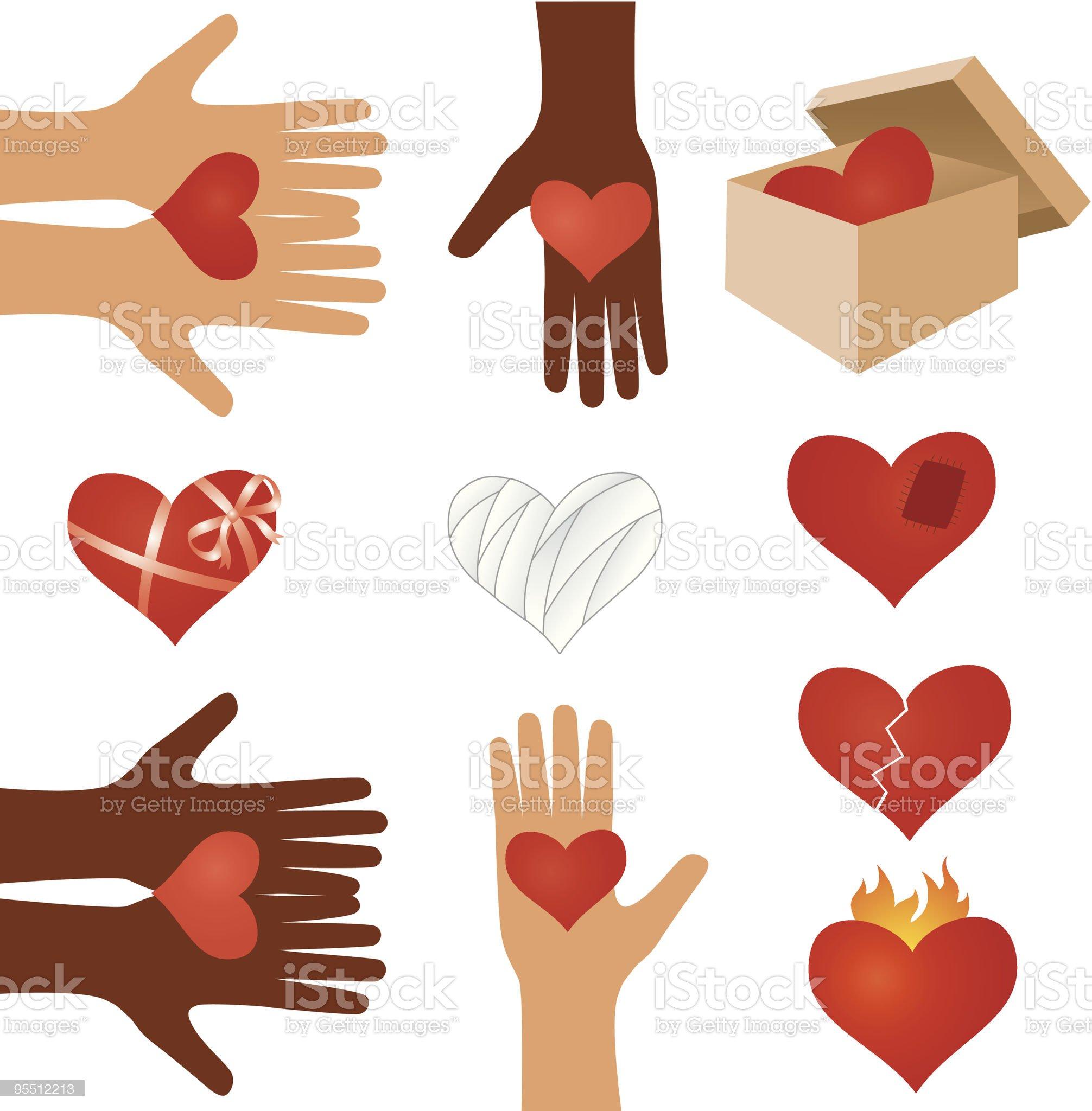 Hearts set royalty-free stock vector art