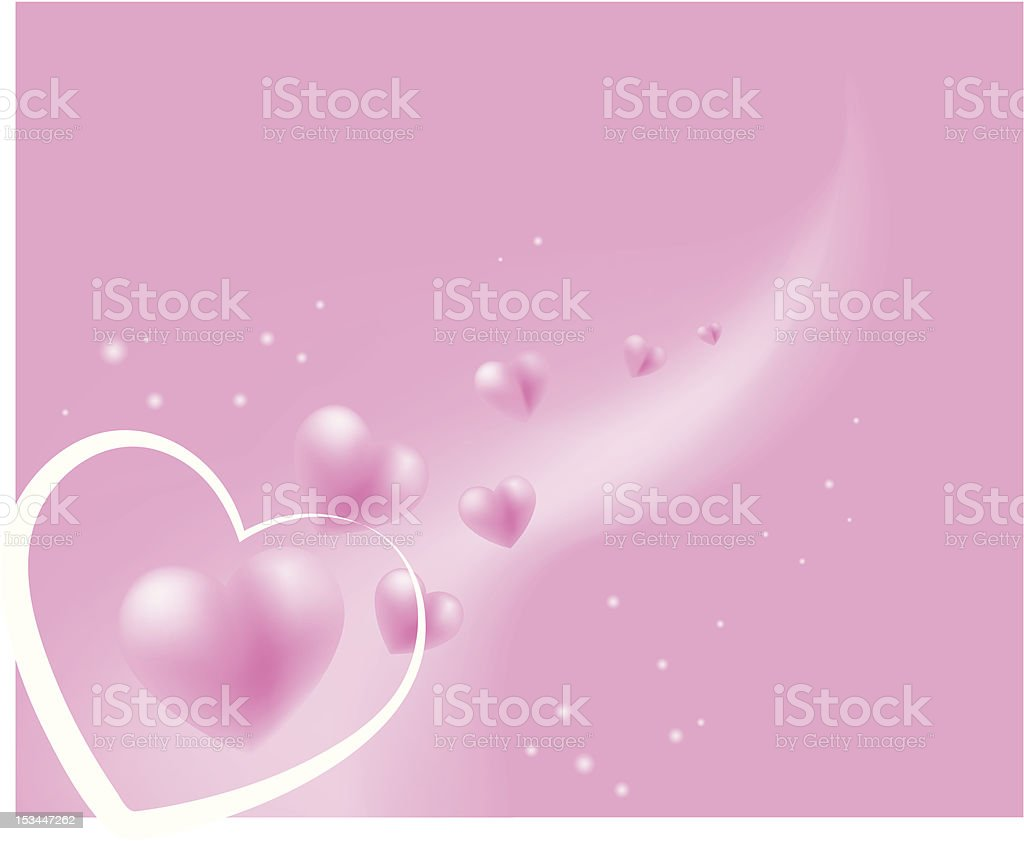 Hearts Soft Pink floating Background royalty-free stock vector art