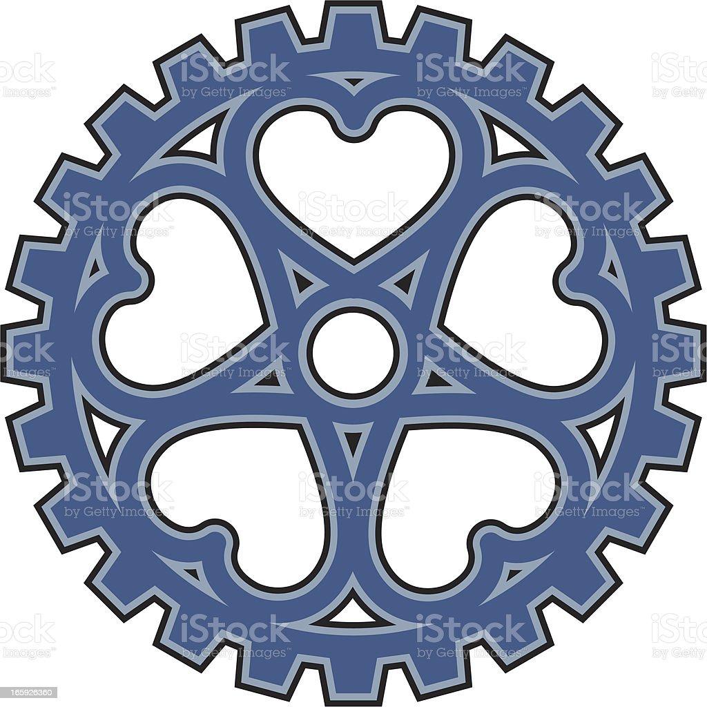 Hearts Sprocket royalty-free stock vector art