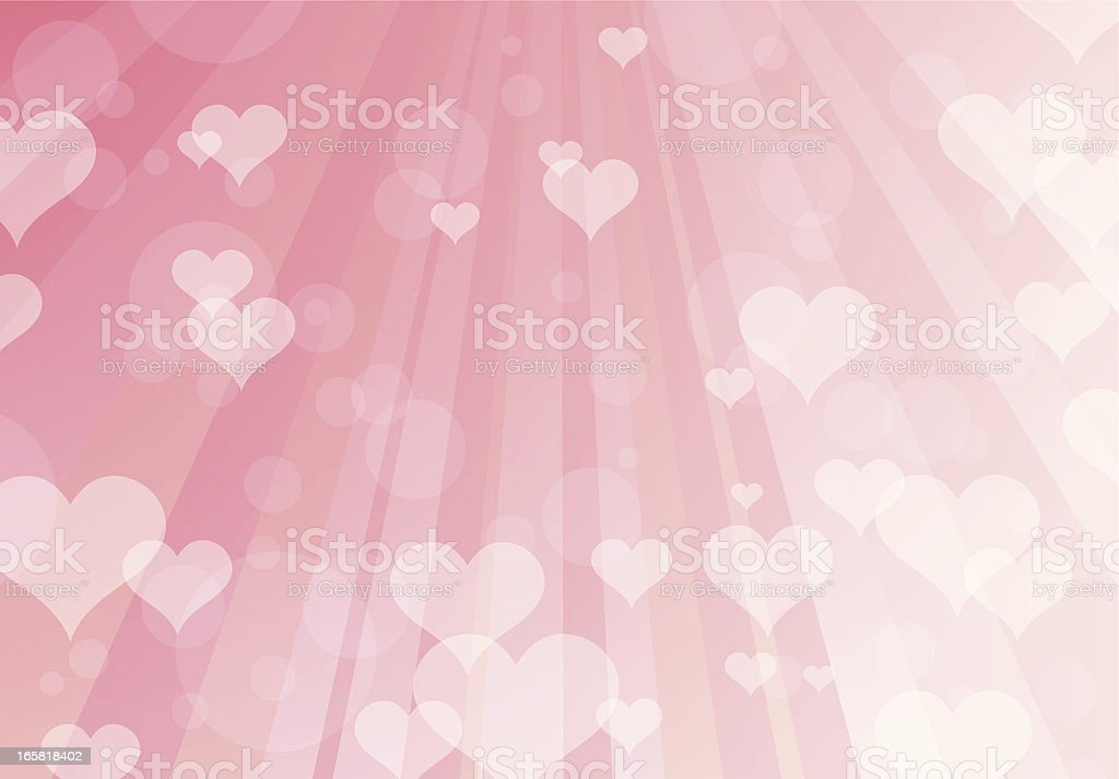 Hearts vector art illustration