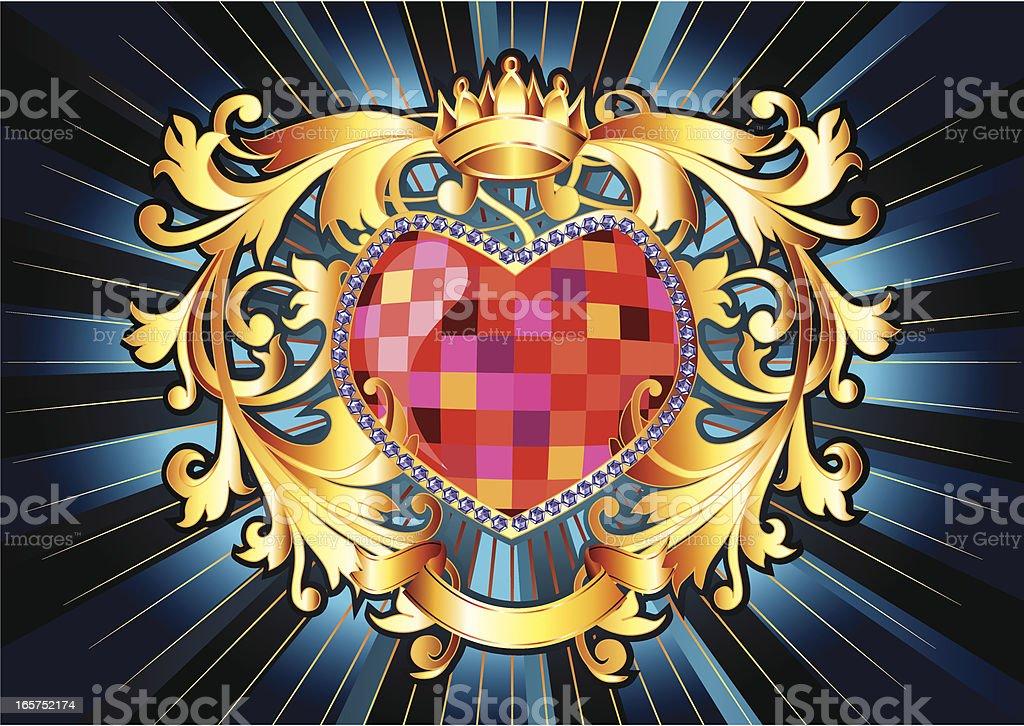 Heart-shaped emblem royalty-free stock vector art