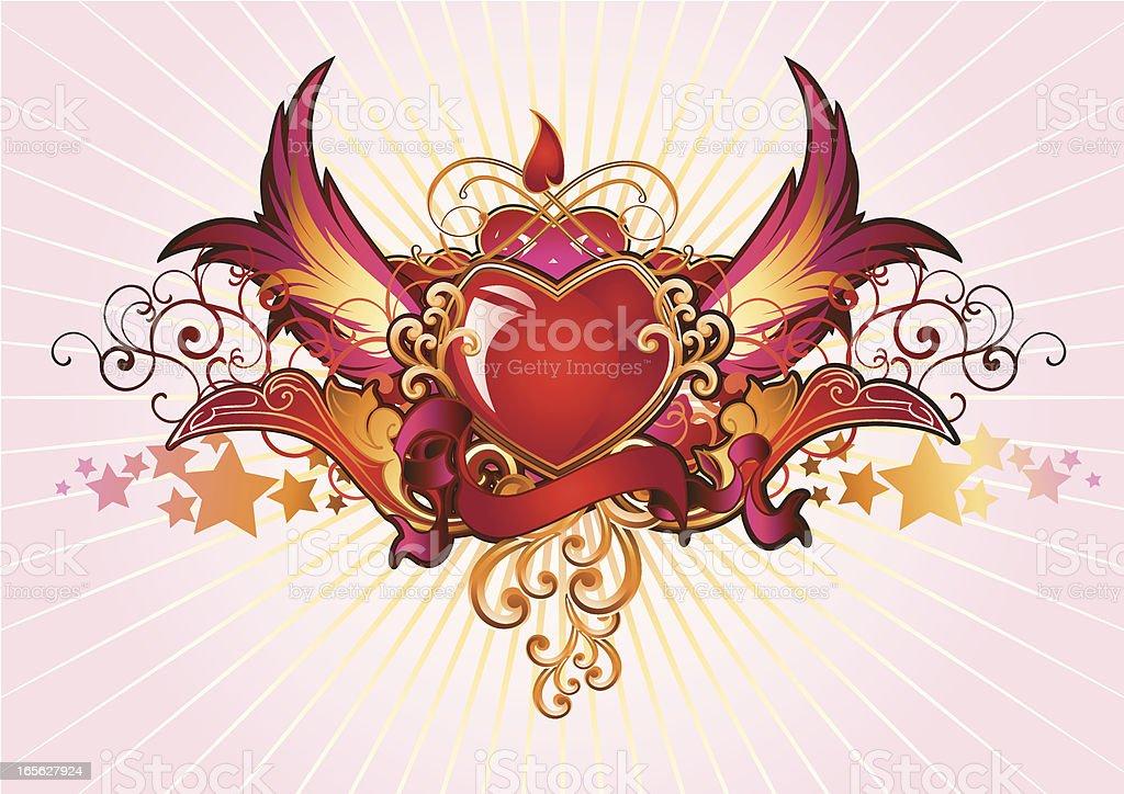 Heart-shaped Insignia royalty-free stock vector art