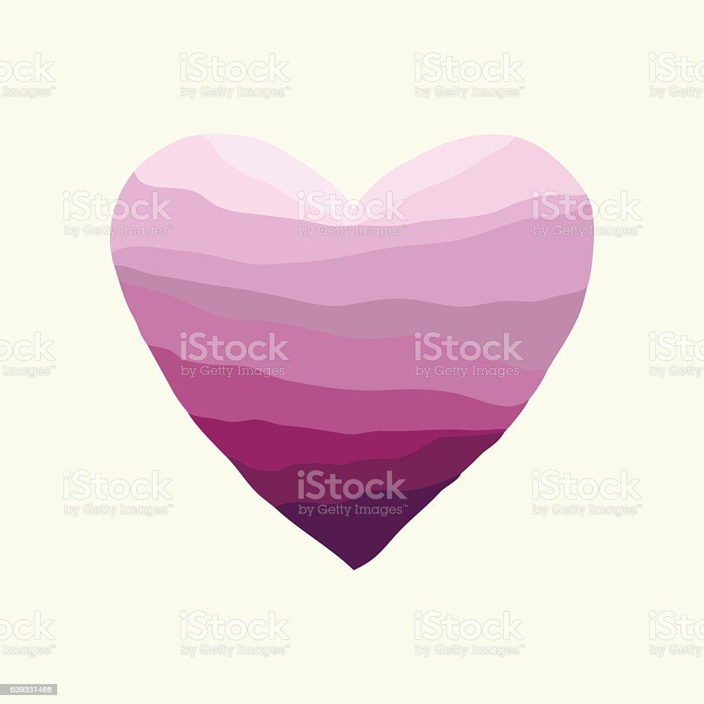 Heart-violet-wave vector art illustration