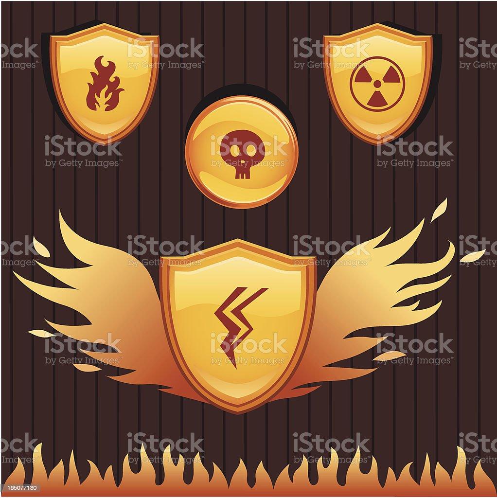 Heat Shields royalty-free stock vector art