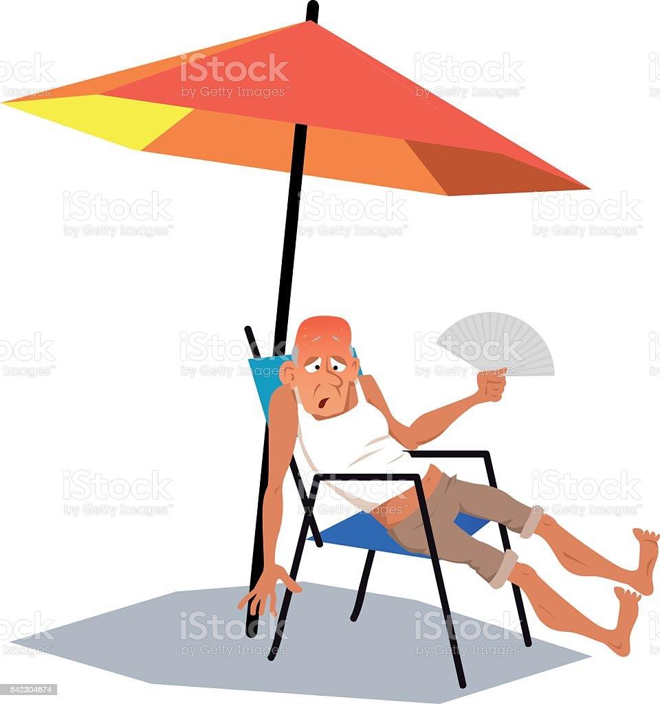 Heat wave vector art illustration