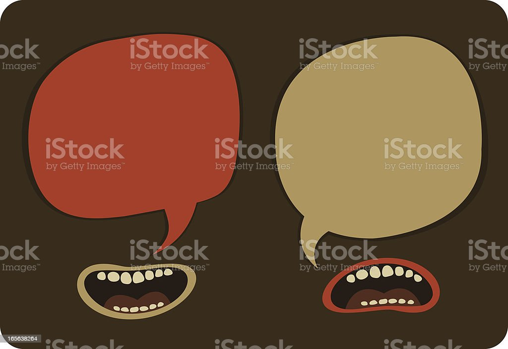 Heated Conversation royalty-free stock vector art