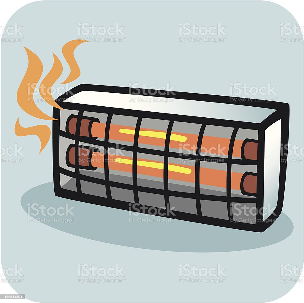 Are Electric Heater Space Heaters Ask Answer Wiring Diagram Whale Ak1264 Water Primary Control Pcb Infrared Clip Art Vector Images Illustrations Istock Portable Radiant