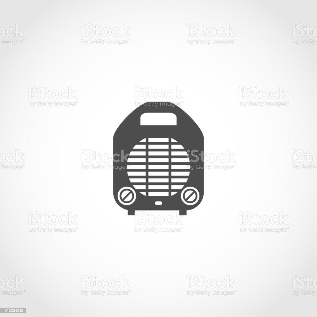 Heater vector icon vector art illustration