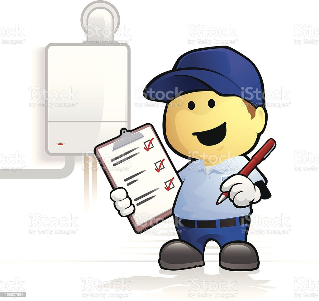 Heating Engineer vector art illustration