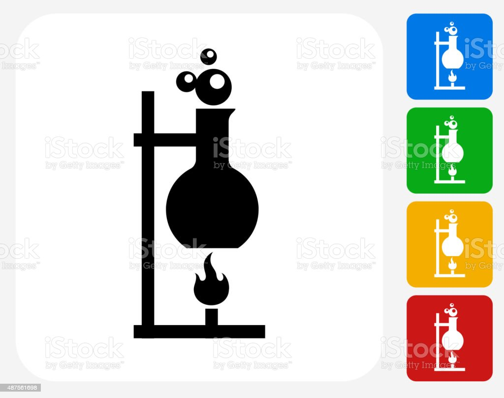 Heating Flask Icon Flat Graphic Design vector art illustration