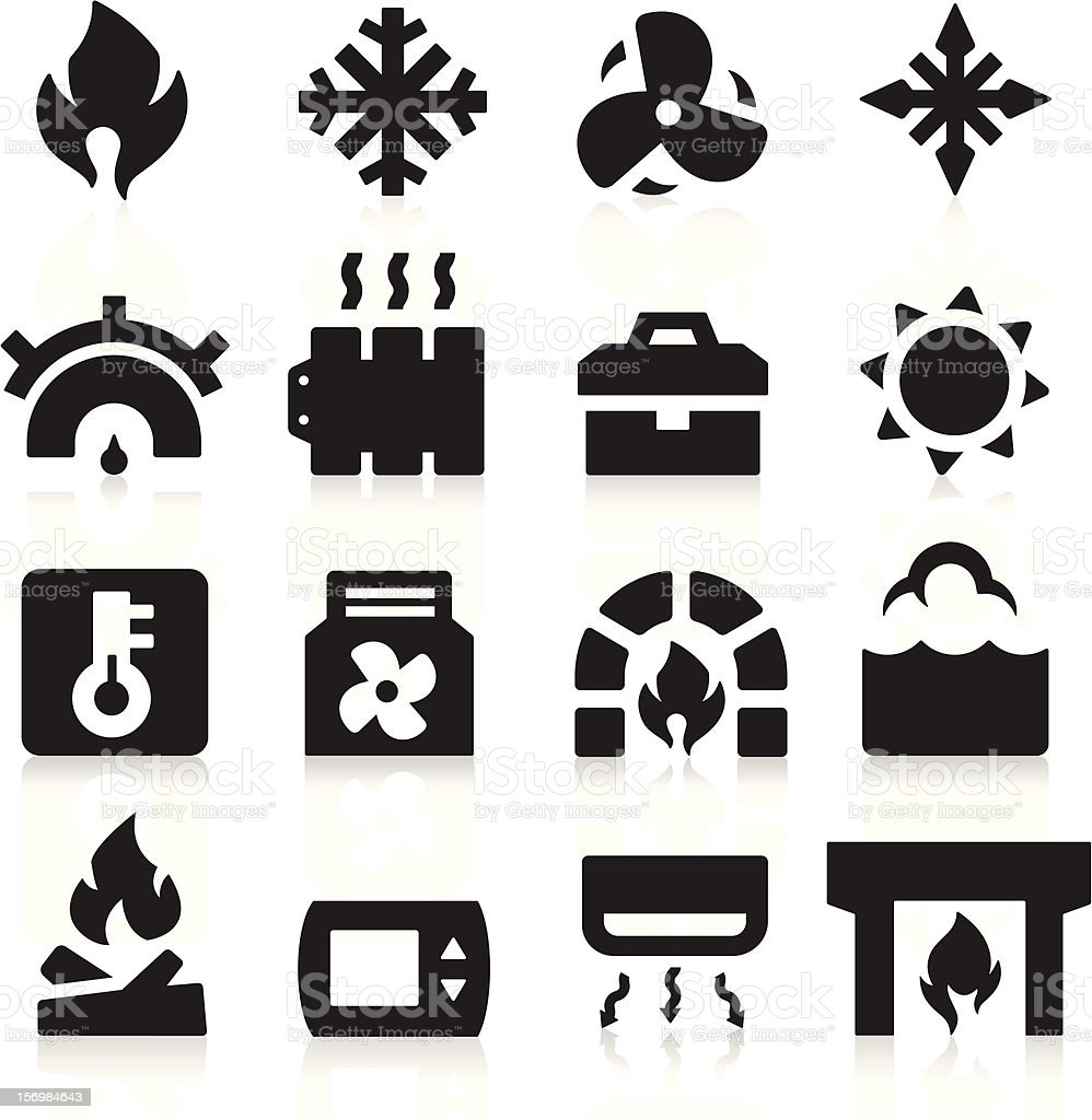 Heating icons royalty-free stock vector art