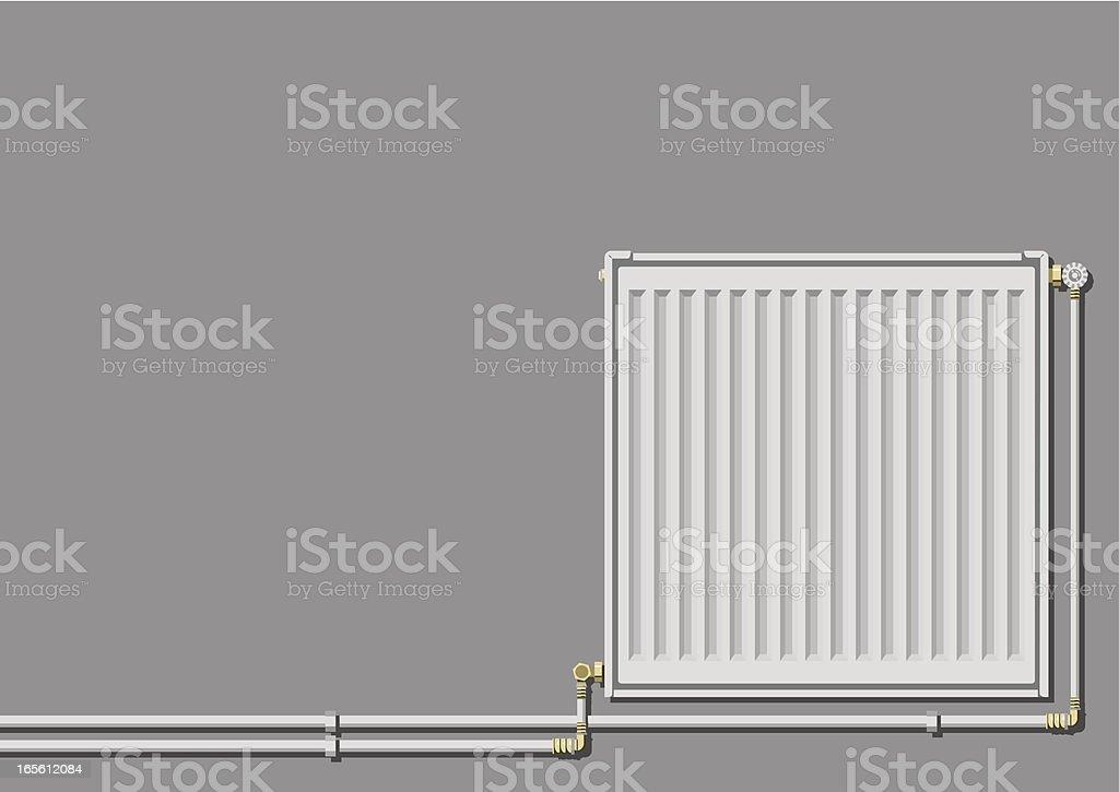 Heating radiator vector art illustration