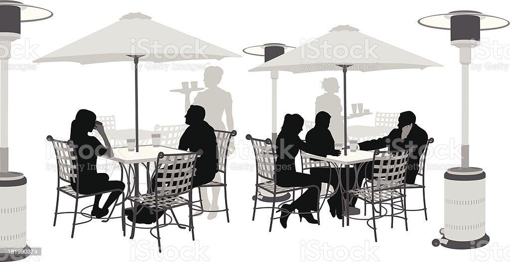 Heating Restaurant vector art illustration