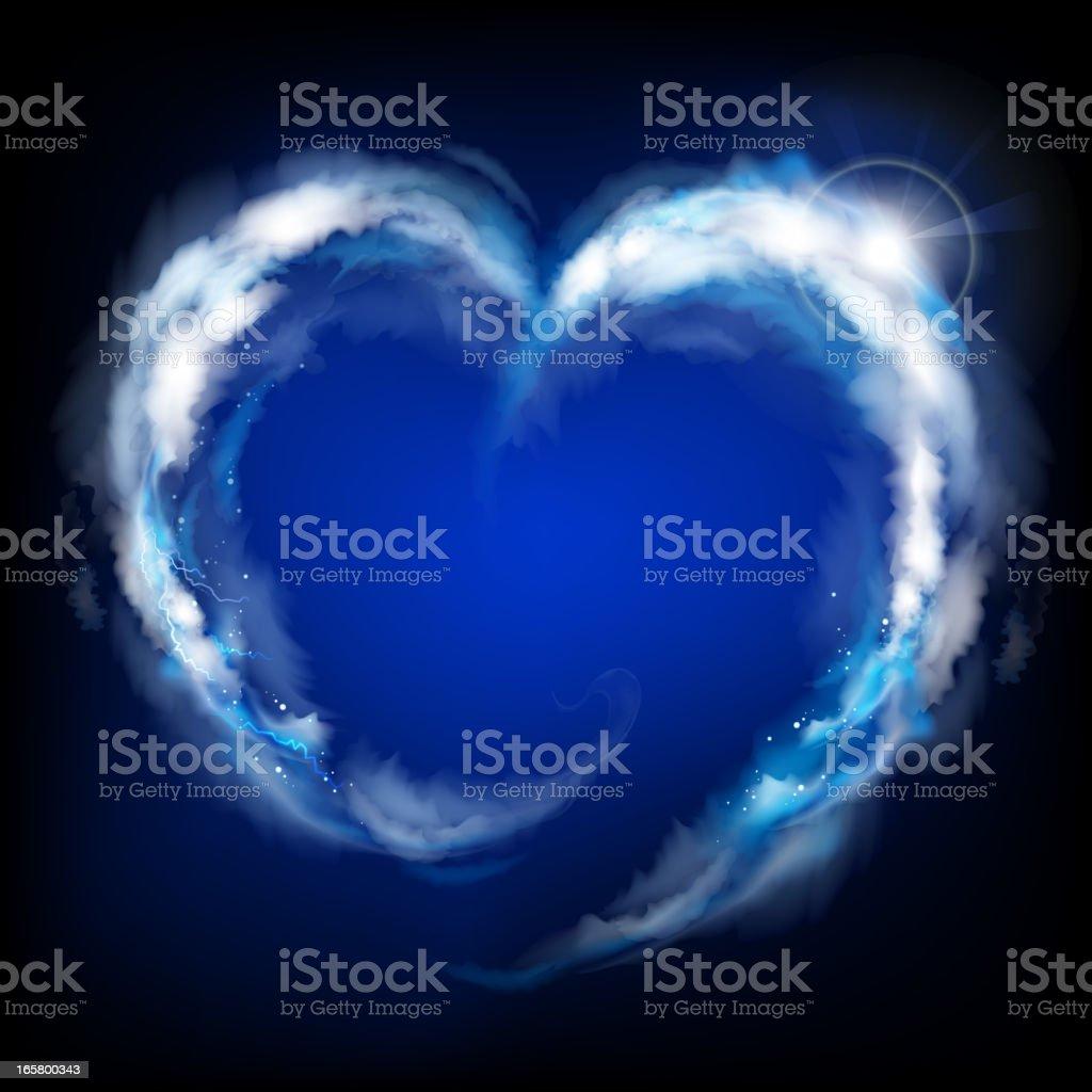 Heaven heart background royalty-free stock vector art