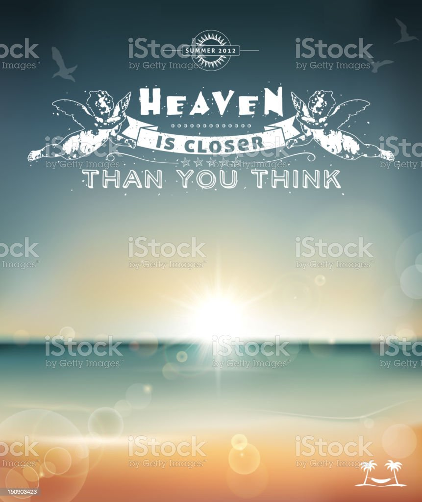 Heaven is closer than you think royalty-free stock vector art