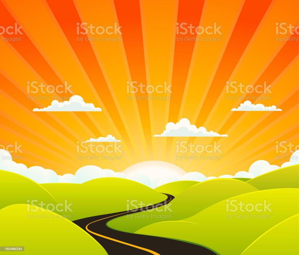 Heaven Road vector art illustration