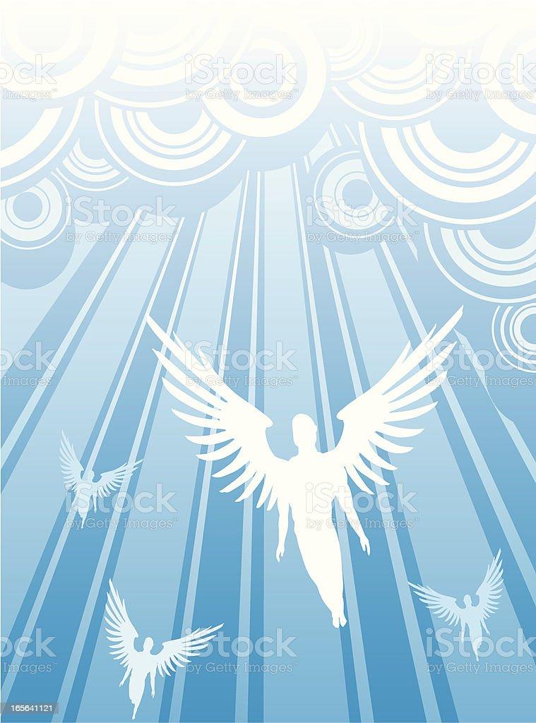 Heavenly Archangels vector art illustration