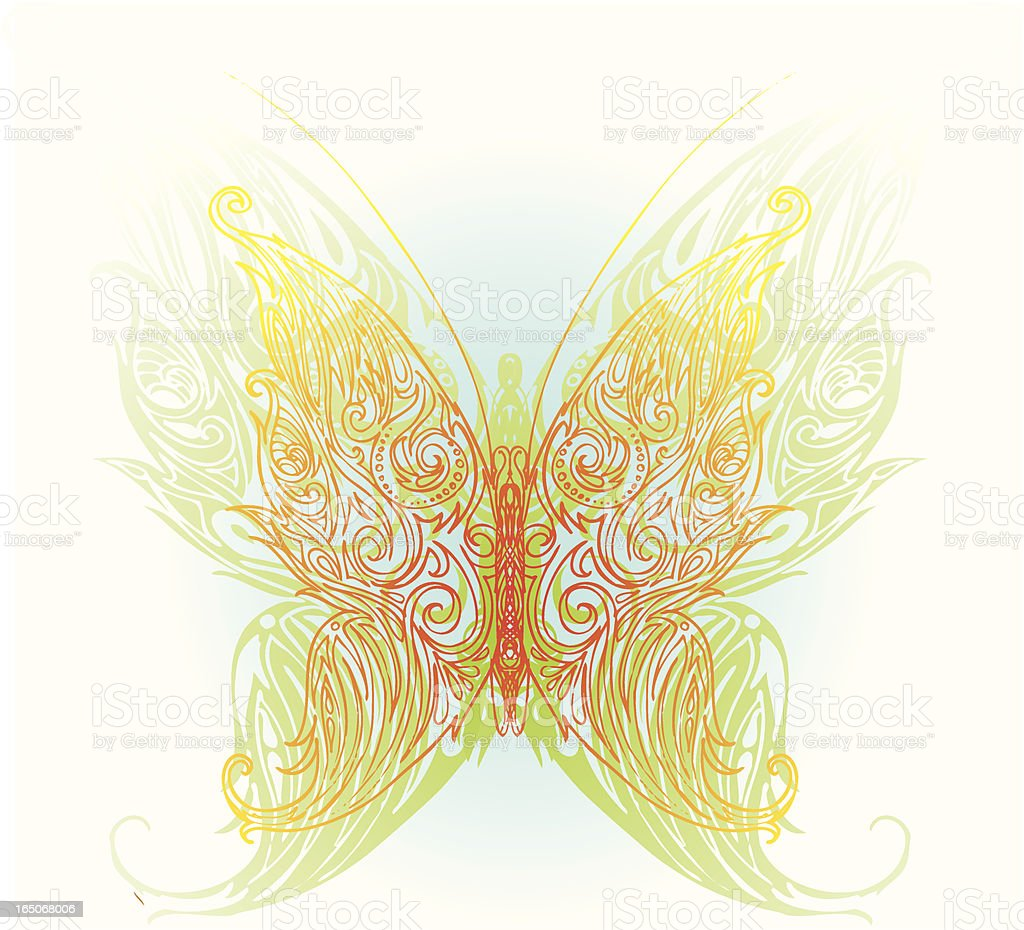 heavenly butterfly royalty-free stock vector art