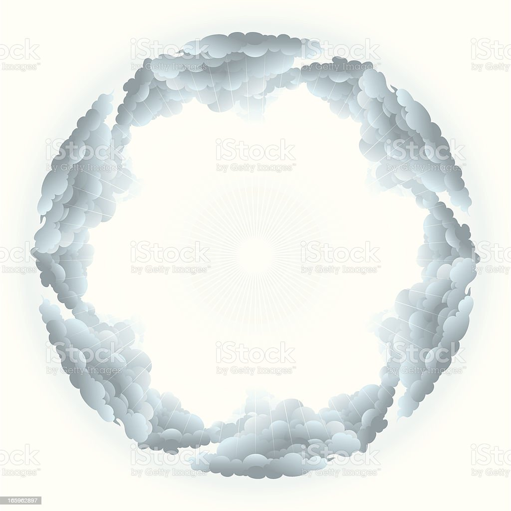 Heavenly Cloudscape royalty-free stock vector art