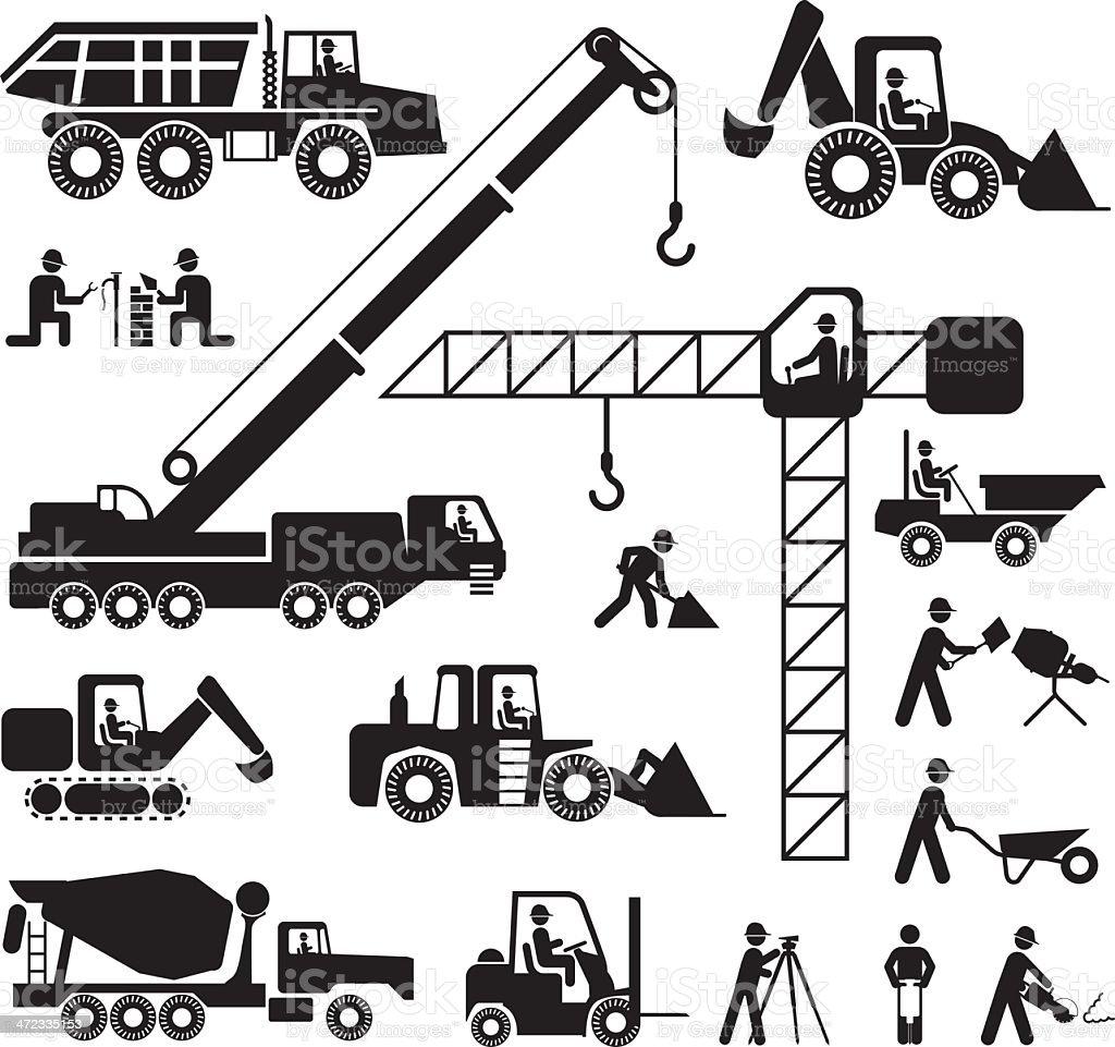 Heavy Construction royalty-free stock vector art
