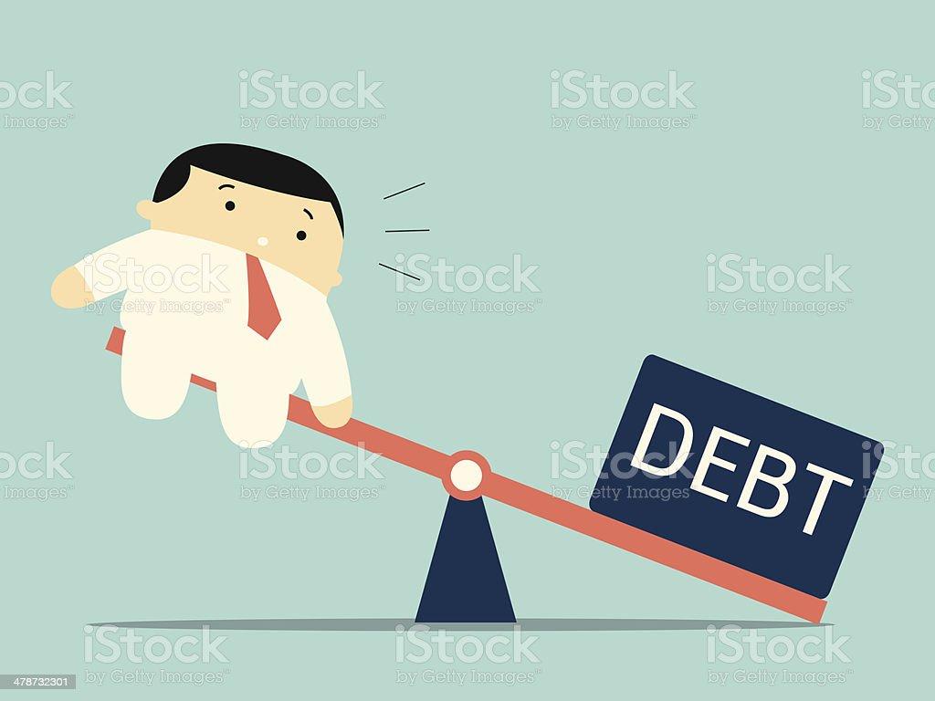 Heavy debt vector art illustration