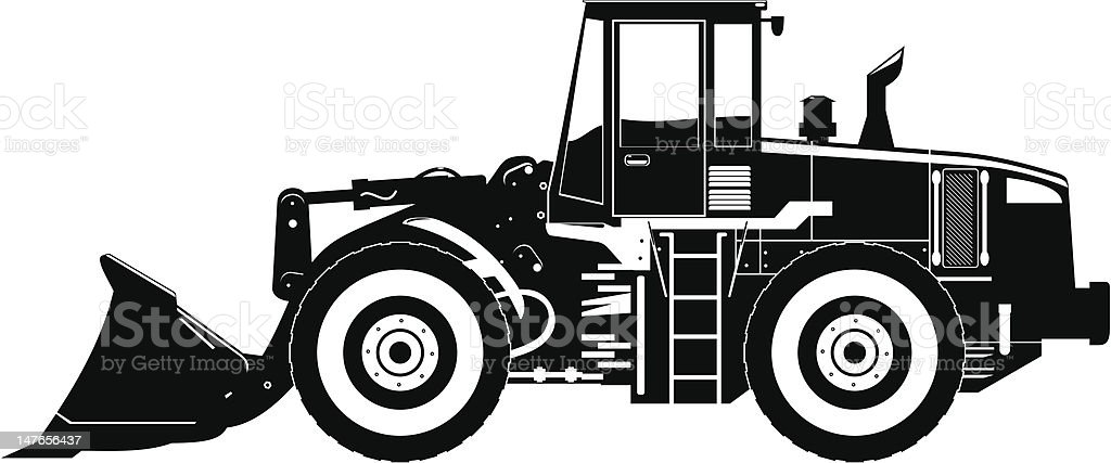 heavy equipment loader royalty-free stock vector art