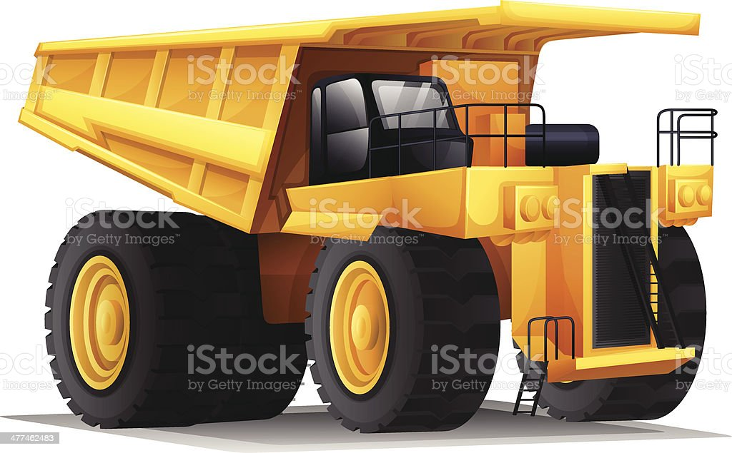 Heavy hauler vector art illustration