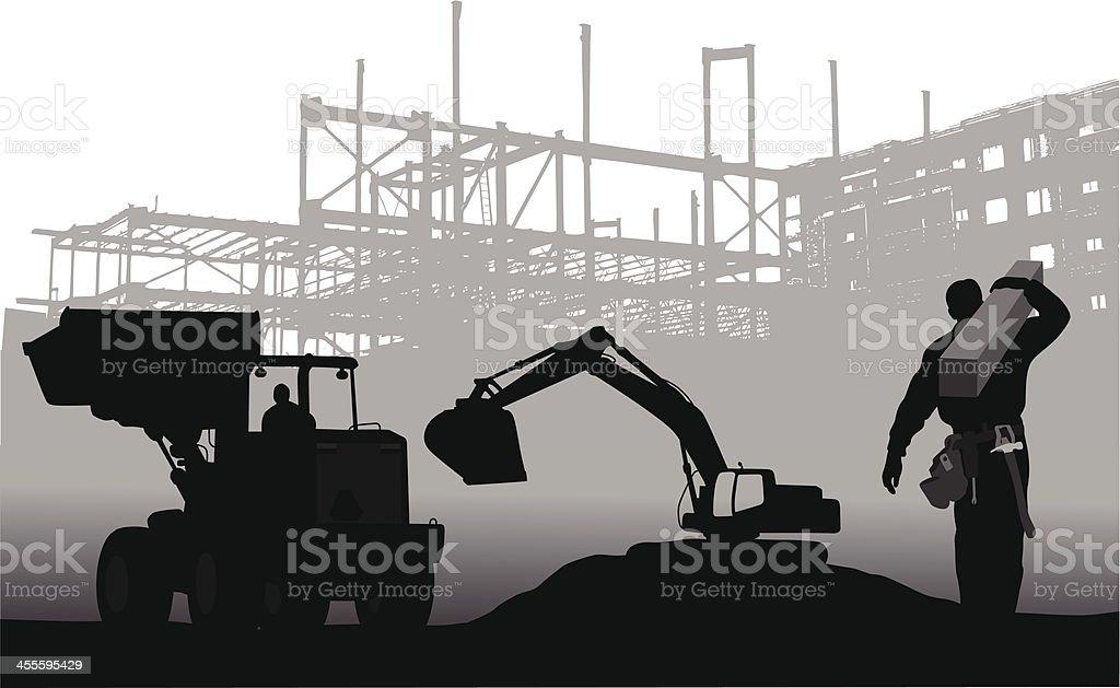 Heavy Labor vector art illustration