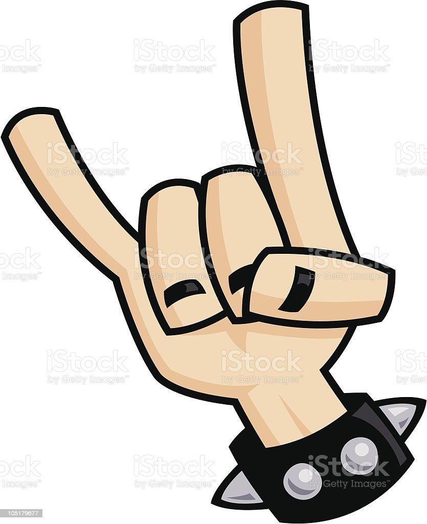Heavy metal devil horns hand sign vector art illustration
