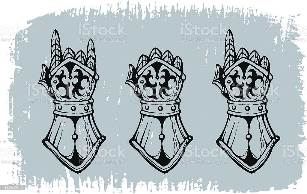Heavy metal gloves royalty-free stock vector art