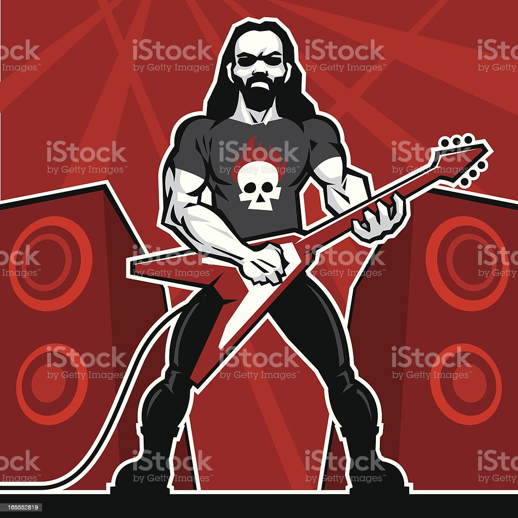 Heavy Metalist vector art illustration
