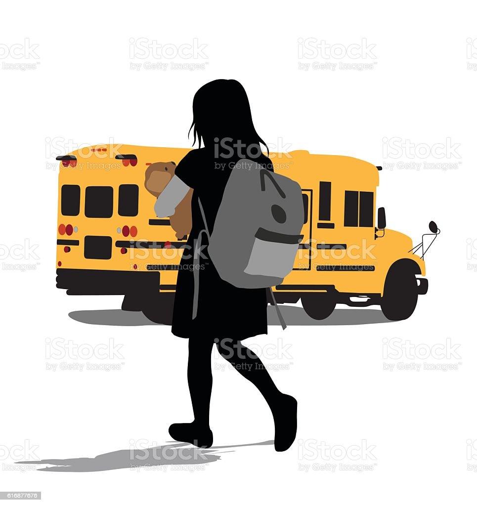 Heavy School Backpack vector art illustration