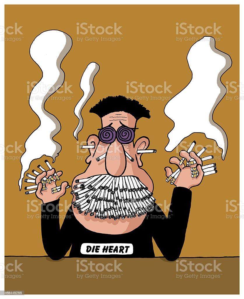 Heavy smoker royalty-free stock vector art