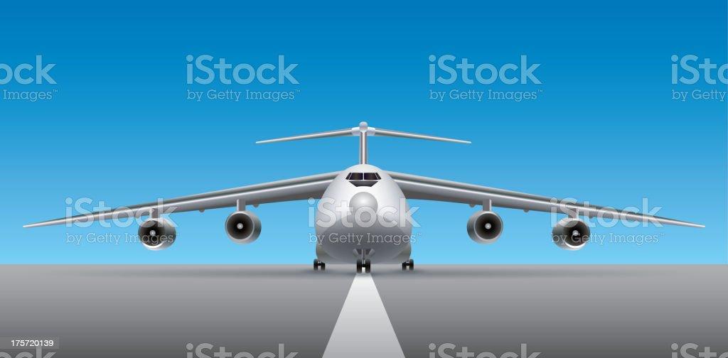 Heavy transport plane vector art illustration