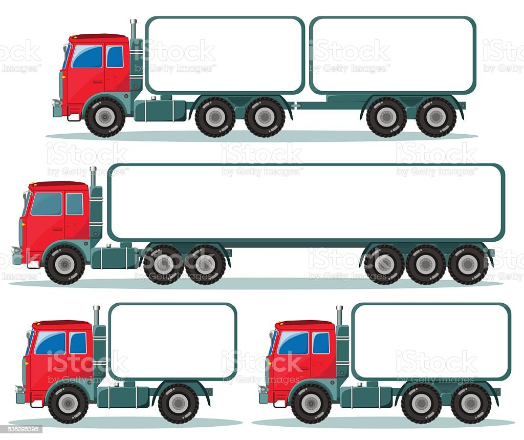 Heavy truck with space for text vector art illustration