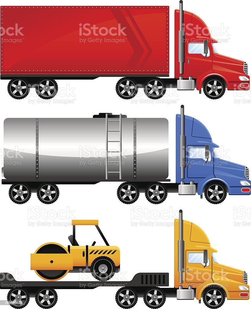 Heavy trucks royalty-free stock vector art