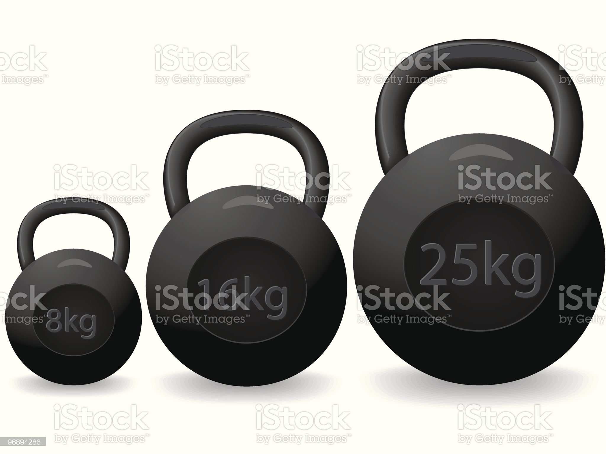 Heavy weights royalty-free stock vector art