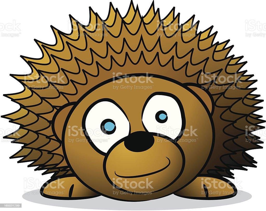 Hedgehog Cartoon royalty-free stock vector art