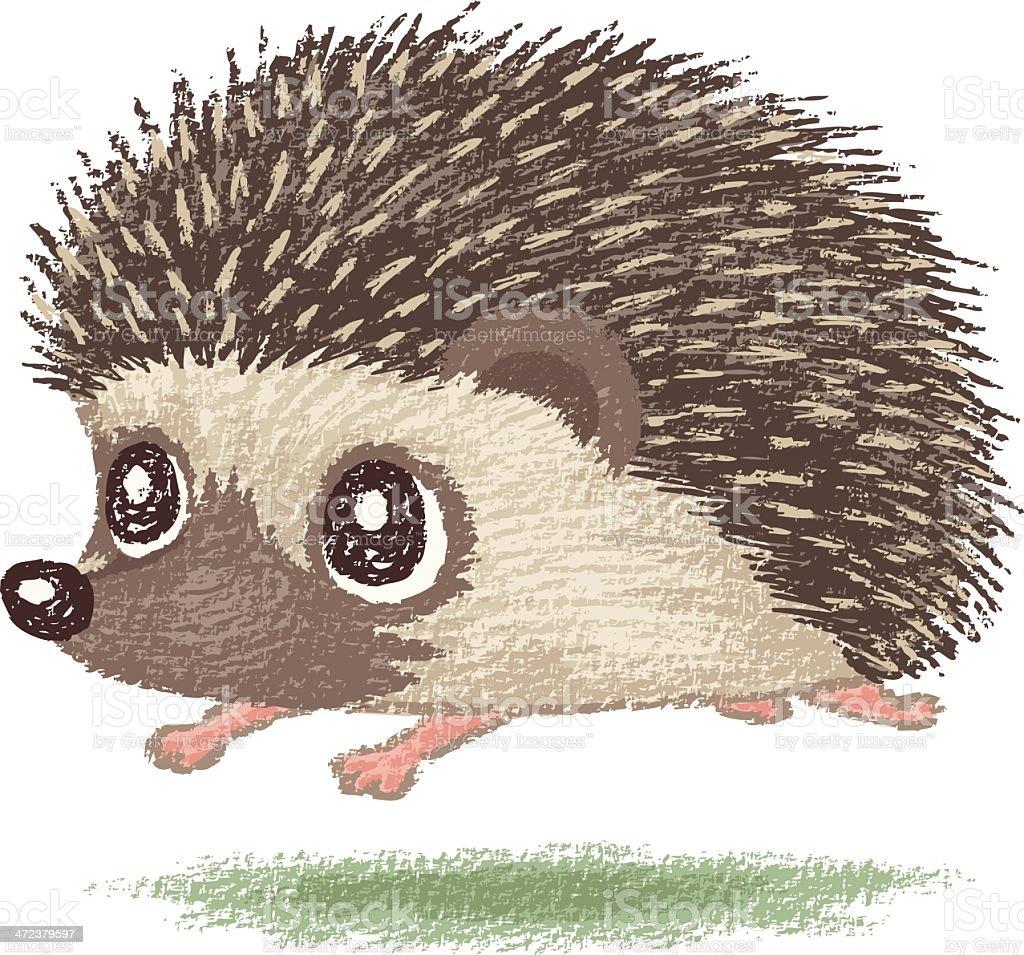 Hedgehog running royalty-free stock vector art