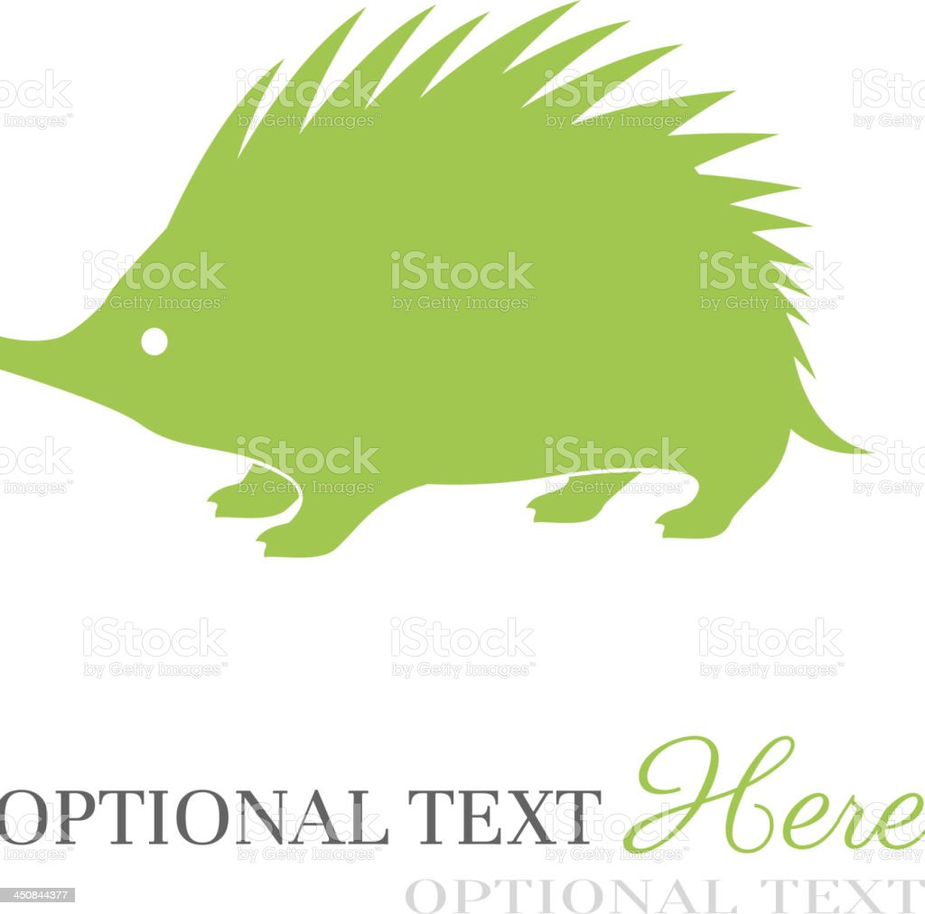Hedgehog royalty-free stock vector art