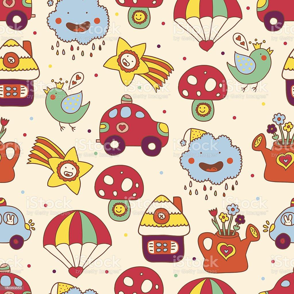 Сheerful children's seamless pattern. royalty-free stock vector art