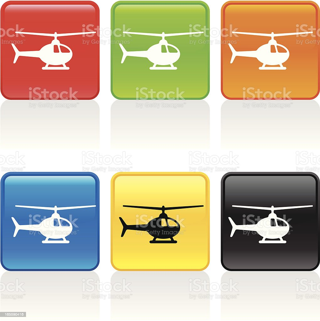 Helicopter I Icon vector art illustration