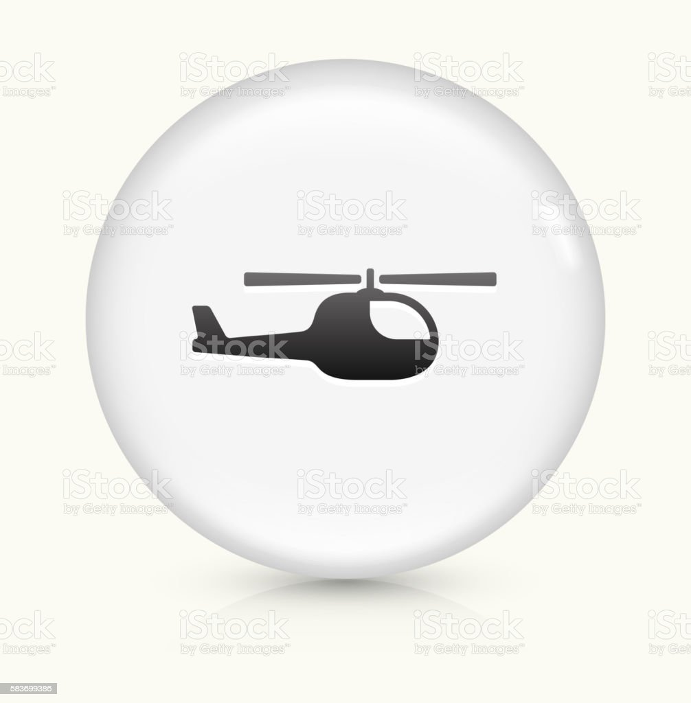 Helicopter icon on white round vector button vector art illustration