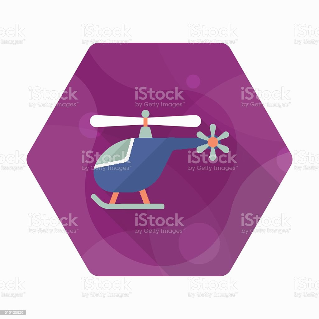 Helicopter icon vector art illustration