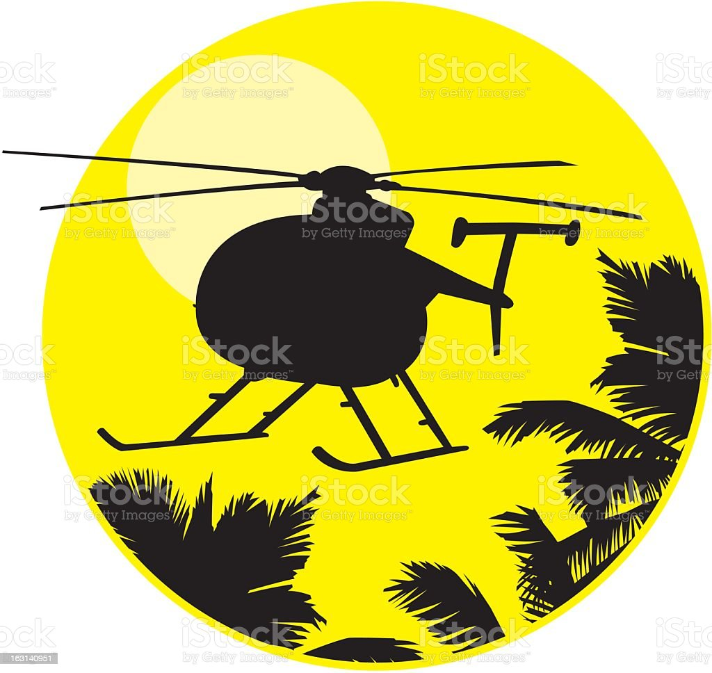 Helicopter Silhouette royalty-free stock vector art