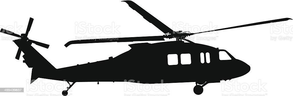 Helicopter Silhouette vector art illustration