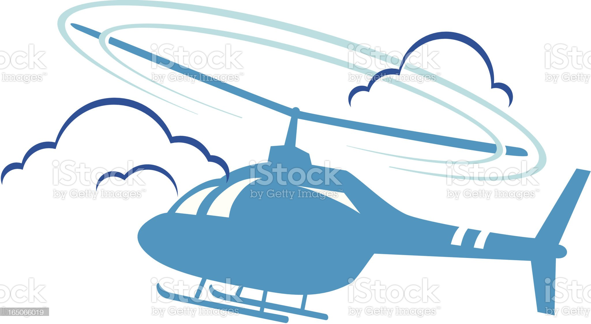 Helicopter royalty-free stock vector art