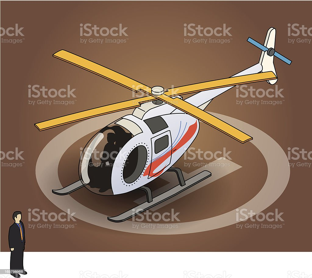 helicopter vector art illustration