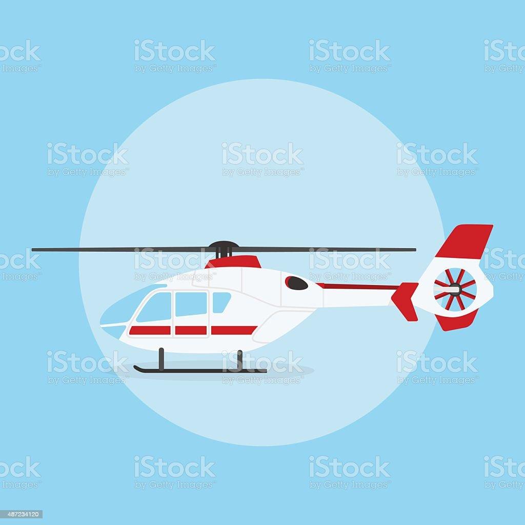 helicopter vector art illustration
