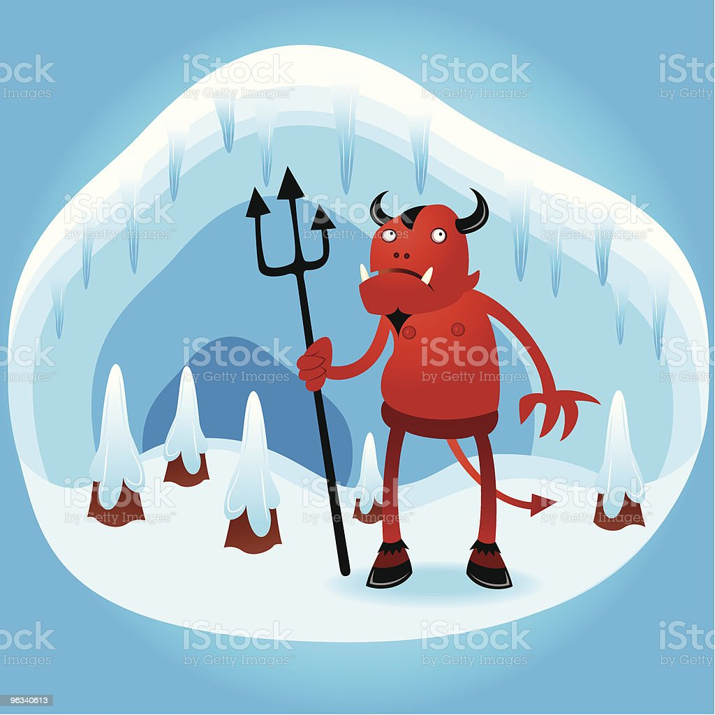 Hell Finally Freezes Over royalty-free stock vector art